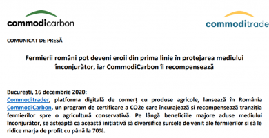 CP- Lansare proiect Commodicarbon- APPR